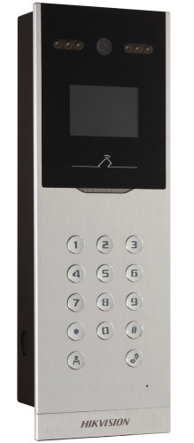 DS-KD8002-VM - 1.3MP Многоабонентская вызывная IP-панель видеодомофона с цветным дисплеем.