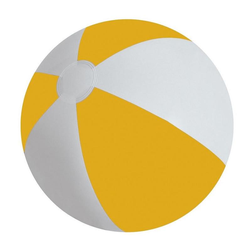 """Мяч надувной """"ЗЕБРА"""", 45 см, Желтый, -, 22200 03"""