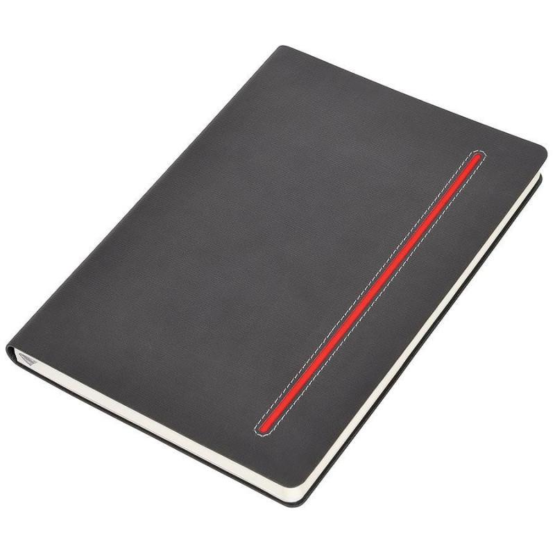 """Бизнес-блокнот А5  """"Elegance"""",  мягкая обложка,  в клетку Красный -"""