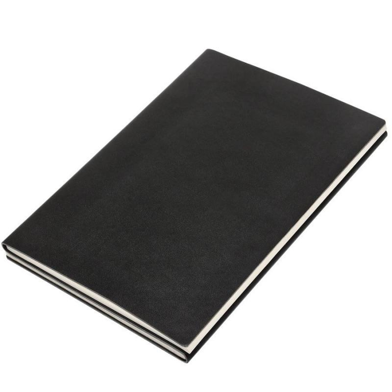 """Бизнес-блокнот А5 """"Twizzy"""", двусторонний, мягкая обложка, линейка/клетка  черный"""