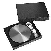 """Универсальный аккумулятор """"UFO"""" (6000mAh) в подарочной коробке,темно-серый,8,6х1,5 см,металл, Серебристый, -, 23801 30"""
