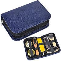 Набор для чистки одежды и обуви в пенале, 7 предметов, Темно-синий, -, 6003 24