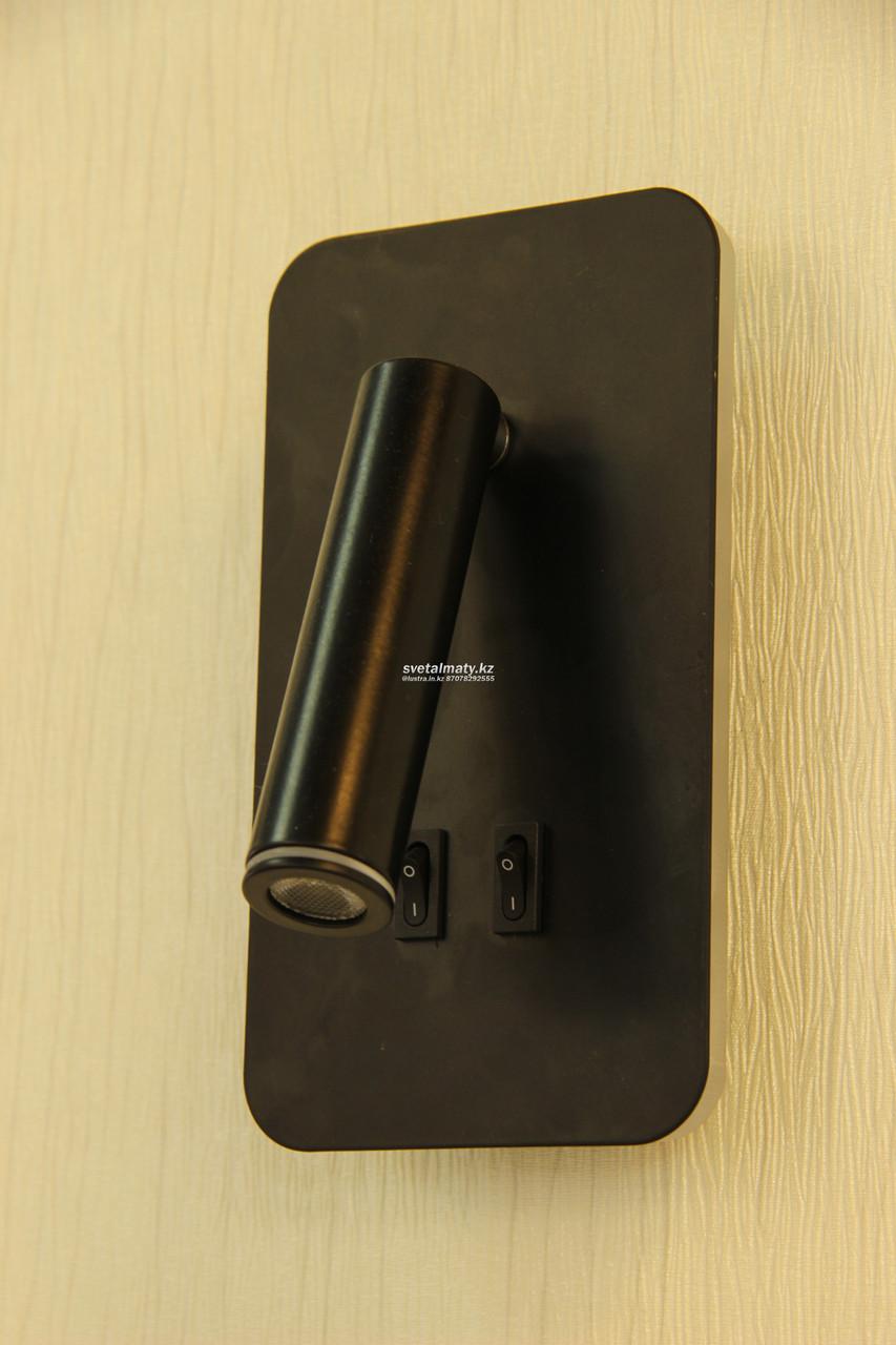 Настенный светильник черный 2 LED лампы в стиле современный Modern