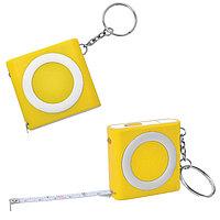 Брелок-рулетка (1м) с фонариком Желтый -