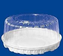 Крышка кругл. торт. 2,5 кг, внешн. d-334мм, h-148мм, внут.d-280мм, h-135мм, прозрачная, (74609) ОПС, 85 шт