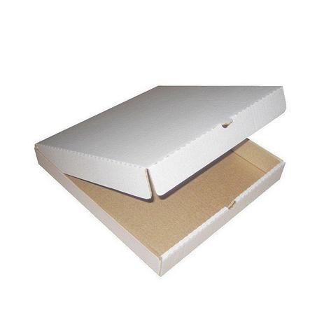 Коробка д/пиццы, 400х400х40мм, бел., микрогофрокартон, 50 шт, фото 2