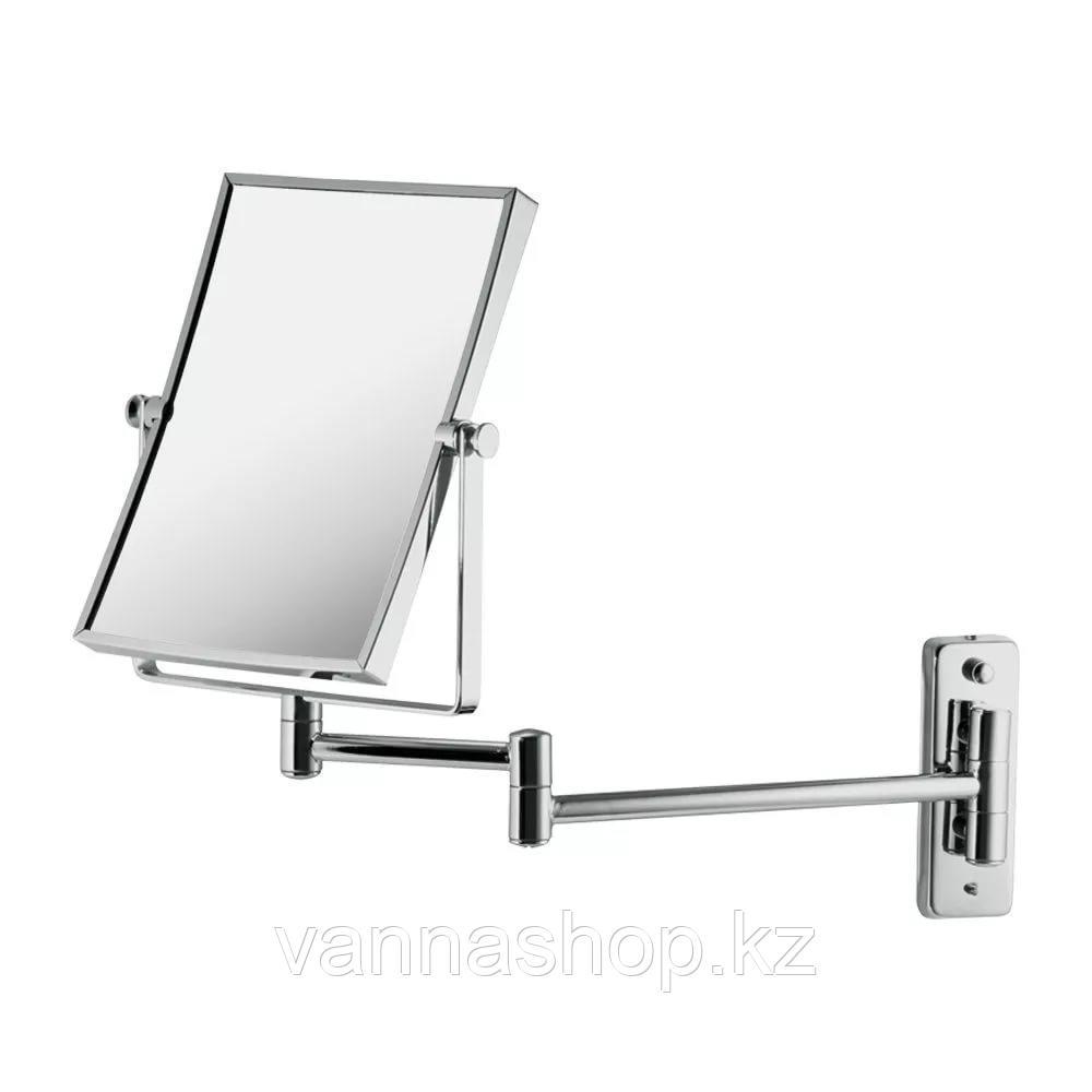 Настенное зеркало увеличительное (хром)