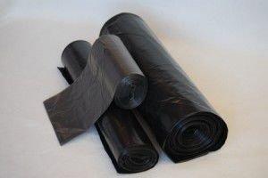 Мешок д/мусора 180л 70(+20)х110см  ПВД черный, 10 шт/рул., 40 мкм, фото 2
