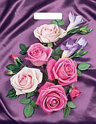 """Пакет (мешок) проруб. ПВД 40х31см, 60мкм, """"Атласные розы"""", 50 шт"""