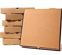Коробка д/пиццы 190x190x40мм, микрогофрокартон, бурая, 50 шт