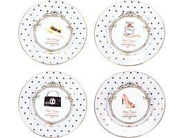 Набор из четырех десертных тарелок Женский каприз