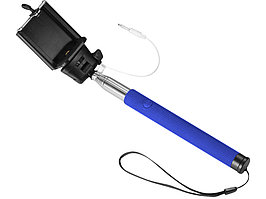 Монопод проводной Wire Selfie, ярко-синий