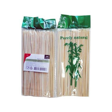 Палочки д/шашлыка, d 2.5мм, 150мм, бамбук, 100 шт, фото 2