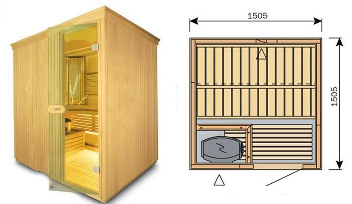 Сауна Финская панельная HARVIA ( кубик )