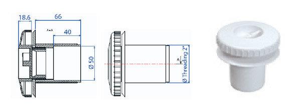 Возвратная форсунка для пленки без закладной трубы RL 315, фото 2