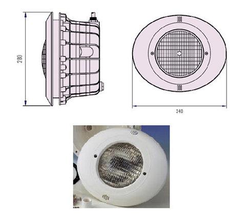 Прожектор встраиваемый, для бетона, 300 Вт/12В, облицовка из пластика B-031-New, фото 2
