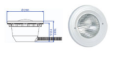 Прожектор встраиваемый, для пленки, 300 Вт/12В, облицовка из пластика PL 84V M