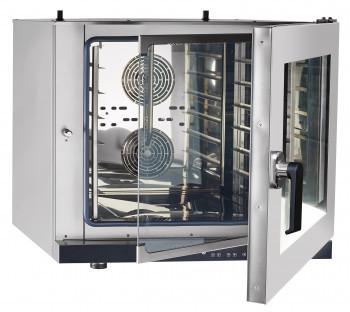Конвекционная печь КЭП-6П, 6 уровней, 400х600 мм, нерж. камера, нерж. корпус, электронная панель, пароувлажнен