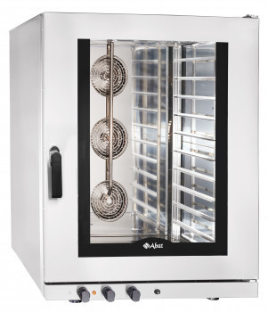 Конвекционная печь КЭП-10, 10 уровней, 400х600 мм, нерж. камера, нерж. корпус, эл/механика, пароувлажнение, ре