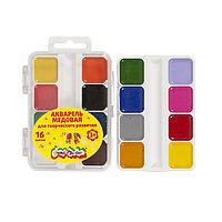 Акварель Каляка-Маляка, 16 цветов, квадратный кювет, пластиковая упаковк