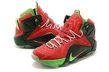 Баскетбольные кроссовки Nike Lebron 12 Elite красно-черные, фото 2