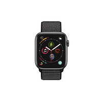 Смарт-часы apple watch series 4 44mm space gray aluminium case with black sport loop