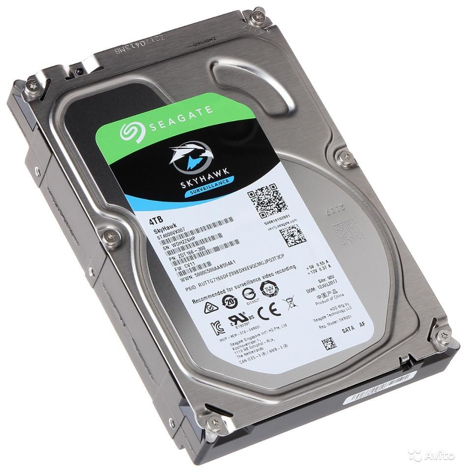 Внутренний  жесткий диск HDD 4000Gb SkyHawk Seagate