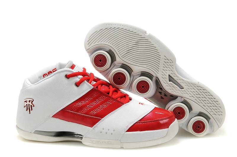 Баскетбольные кроссовки Adidas T-Mac 6 (Tracy McGrady) бело-красные
