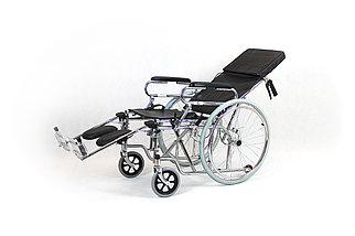 Инвалидная коляска с регулируемой спинкой модель fs902gc-46 (4640), фото 2