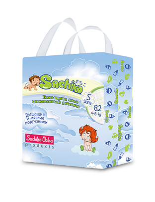 Sachiko подгузники упаковка S size (82шт), фото 2