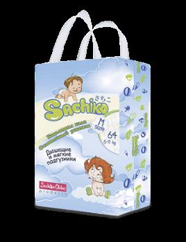 Sachiko подгузники упаковка М size (64шт)