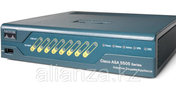 Cisco ASA 5505 Appliance with SW, 10 Users, 8 ports, DES