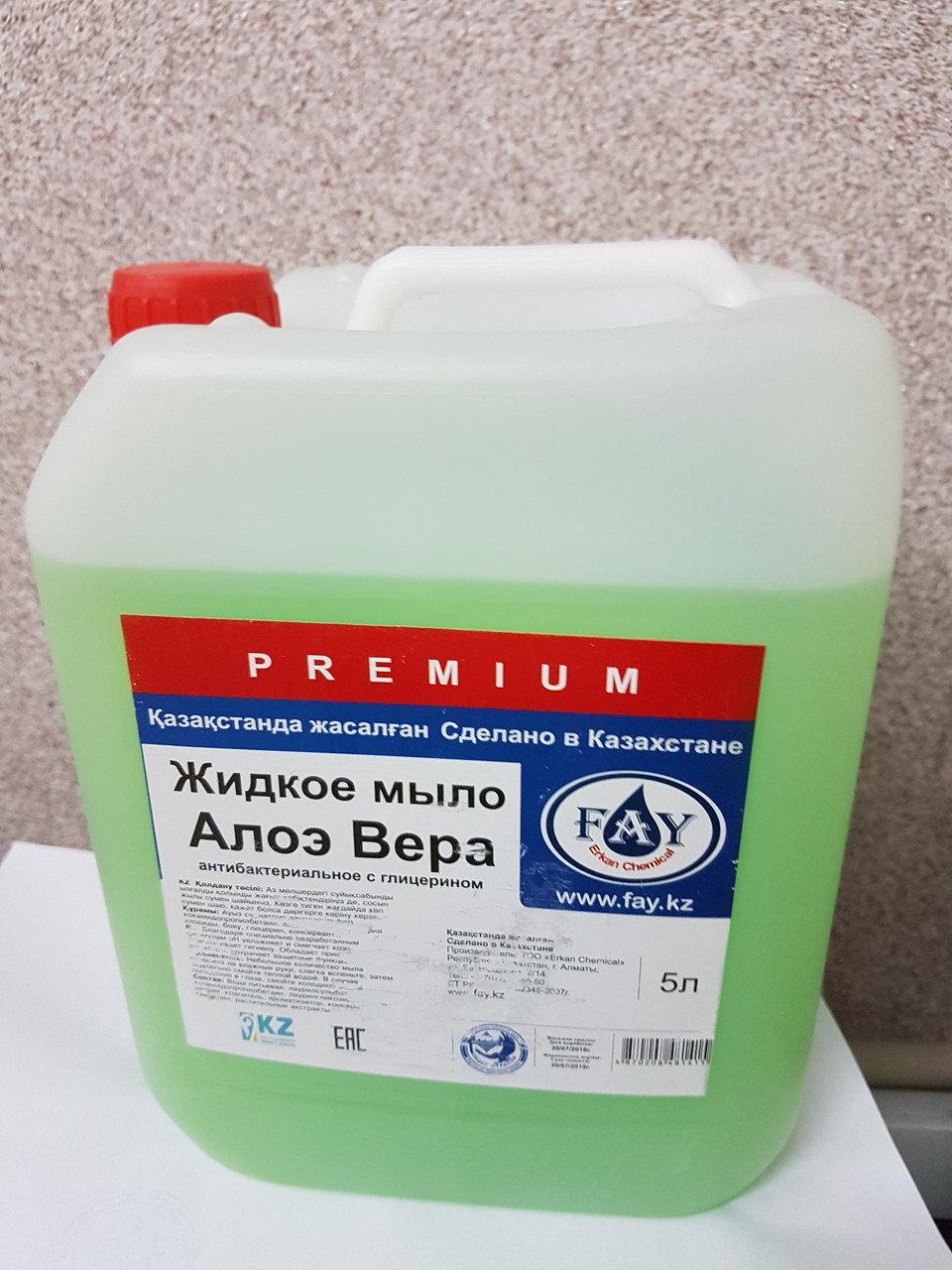 Жидкое мыло «Fay»  PREMIUM 5 л АЛОЭ ВЕРА