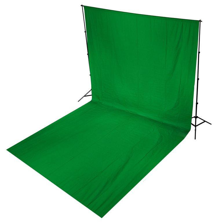 Студийный тканевый фон - хромакей 3 м × 2 м (зелёный)