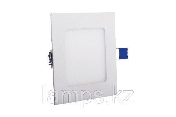 Светодиодная встраиваемая панель квадратная LENA-SX/6W/SMD/3000K/Φ105MM/CBOX, фото 2