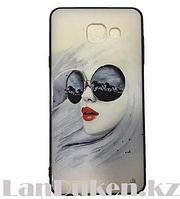 Чехол для телефона Samsung Galaxy A710 принт девушки в очках