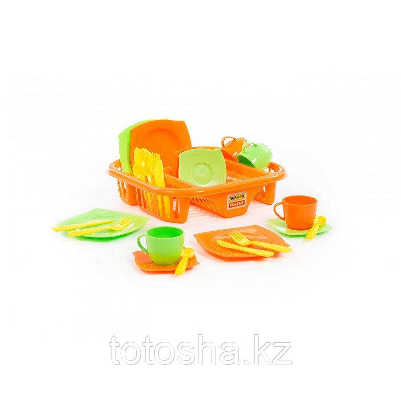 """Набор детской посуды """"Алиса"""" с сушилкой на 4 персоны 40725"""