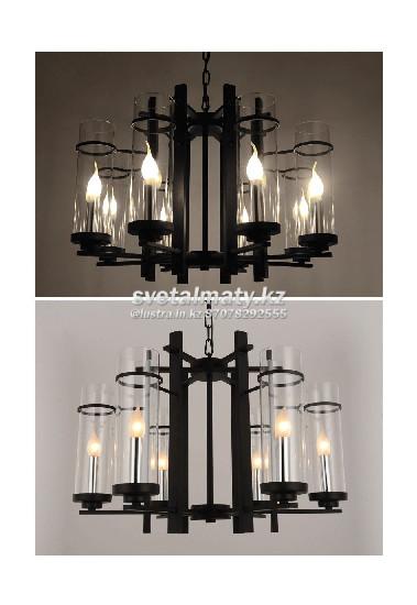 Люстра подвесная на 6 ламп в стиле АРТ-ДЭКО