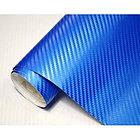 "Виниловая пленка 3D под ""Карбон"" синий металлик 1,52 м., фото 2"