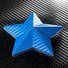 "Виниловая пленка 3D под ""Карбон"" синий металлик 1,52 м., фото 3"
