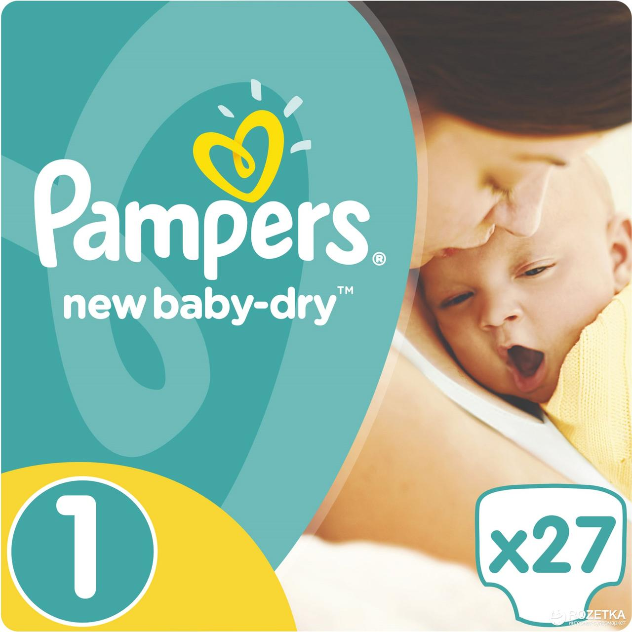 PAMPERS NEW BORN Regular Pack 27 (size 1)