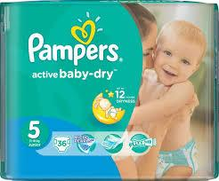PAMPERS ACTIVE BABY DRY JUNIOR Value Pack Minus 36 штук (size 5)