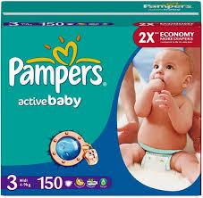 PAMPERS ACTIVE BABY MIDI Mega Box 150 штук (size 3)