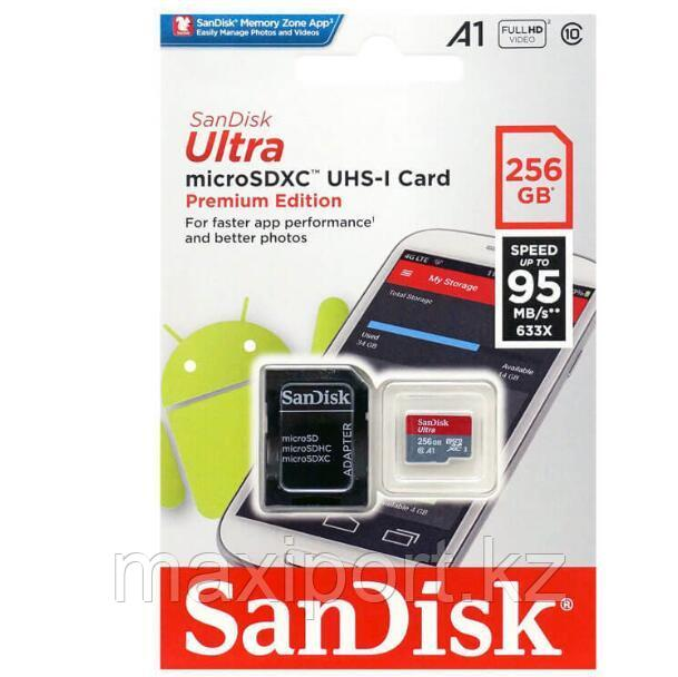 Micro SDXC  Sandisk ultra 256GB  95MB/S UHS-1  10CLASS