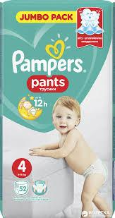 PAMPERS Pants Maxi Jumbo Pack 52 штуки (size 4)