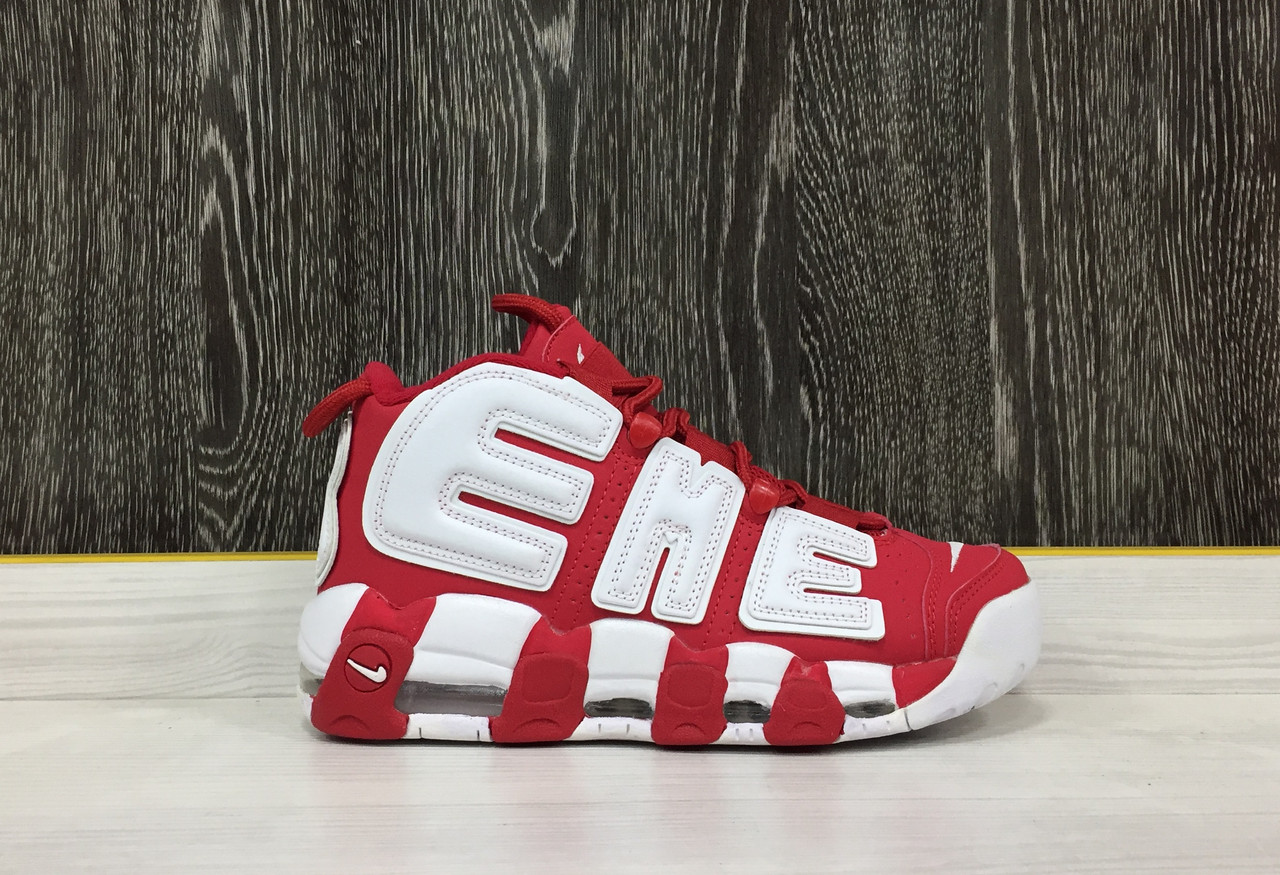 "Кроссовки Nike x Supreme ""Air More Uptempo"" (Varsity Red)"