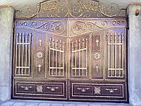 Ворота кованые металические