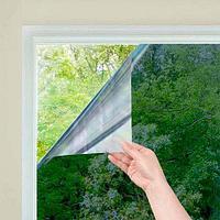 Пленка-штора самоклеящаяся зеркальная солнцезащитная для окна [0,6 х 3 м]