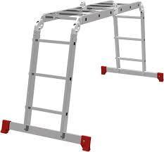 Лестница шарнирная алюминиевая, 4х2/ СИБРТЕХ