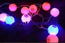 Светящиеся LED Гирлянда глаза для Хэллоуина 2.1 м на батарейках